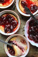 Baked Ricotta with Orange Blossom-Cherry Sauce