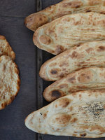 Afghan Naan with Nigella Seeds