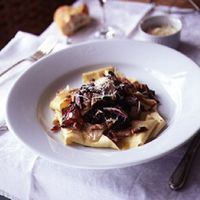 Radicchio with Pappardelle