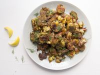 Crispy Smashed Za'atar Potatoes