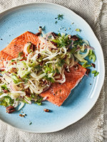 Roasted Salmon with Fennel and Pecans