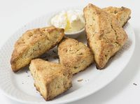Honeycomb-Einkorn Scones with Hazelnuts and Rosemary