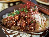 Noodles in Dashi with Miso-Coated Pork Belly