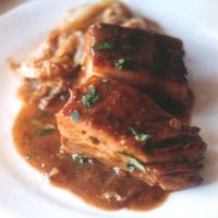 Braised Breast of Pork with Cabbage