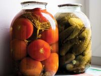 Salt-Brined Tomatoes with Horseradish and Dill