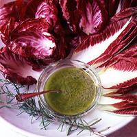 Radicchio with Anchovy and Rosemary Sauce