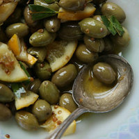 Lemon and Coriander Marinated Olives