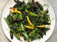 Two Pea Stir-Fry with Greens