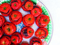 Tomatoes Stuffed with Foie Gras, Duck Confit, and Chanterelles (Tomates Farcies)