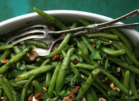 Green Beans with Pancetta and Mint