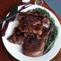 Grilled Butterflied Leg of Lamb with Fresh Mint Sauce