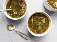 Caramelized Onion, Fennel, and Mushroom Soup