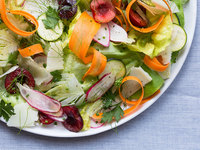 Seasonal Bibb Lettuce Salad with Shaved Vegetables and Herbs