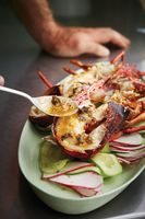 Grilled Lobster with Chipotle Garlic Seaweed Butter