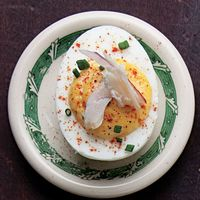 Deviled Eggs with Smoked Trout
