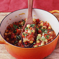 Chickpeas with Tomatoes and Sweet Peppers