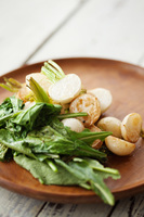 Roasted Turnips with Buttered Greens