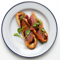 Toast Points with Roasted Beet Dip, Smoked Salmon, and Watercress