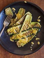 Grilled Zucchini with Ramp Aioli