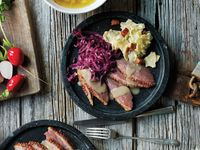 Spiced Red Cabbage with Apples and Cranberries
