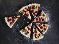 Almond Frangipane Tart with Cranberries and Honeyed Pistachios