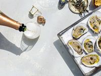 Grilled Oysters on a Bed of Salt
