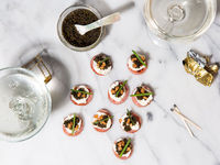 New Jersey Pork Roll and Caviar Canapés
