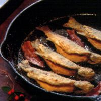 Breakfast Trout with Bacon