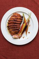 Crispy Duck Breasts with Glazed Carrots