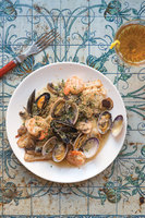 Sole au Vin Blanc  (Sole with Mushrooms and Shellfish)