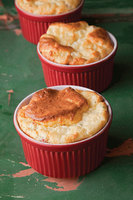 Ham and Cheese Soufflés