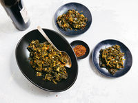 Spicy Braised Kale
