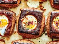 Baked Egg Danish with Kimchi and Bacon