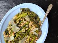 Broccoli Rabe with White Beans and Preserved Lemon