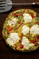 Frittata with Ricotta Cheese and Roasted Peppers (Frittata con Ricotta e Peperoni)