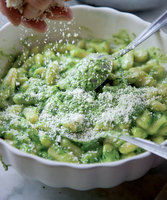 Gnocchi al Pesto (Potato Dumplings with Pesto)