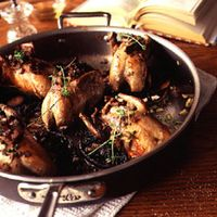 Quail with Portobello Mushrooms