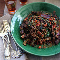 Lentils with Swiss Chard and Khlea