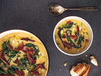 White Bean and Lacinato Kale Soup with Smoked Ham Hock