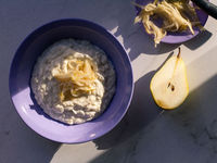 Rice Pudding with Lavender and Grated Bosc Pear