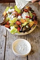 Red Leaf Salad with Ranch Dressing