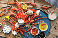Steamed Crab Legs with Six Sauces