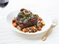 Braised Veal Osso Bucco with Gremolata and Porcini Risotto