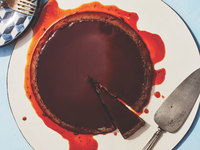 Chocolate and Guajillo Chile Flan