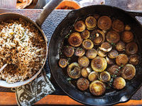 Wild Rice With Roasted Buttered Onions
