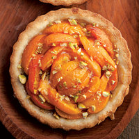 Apricot Tarts with Pistachios