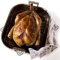 Roast Turkey with Cornbread Dressing