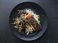 Crispy-Skinned Salmon with Seaweed Salad