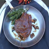 Veal Chop with Jus