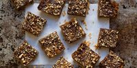 Chocolate-Glazed Toffee Bars